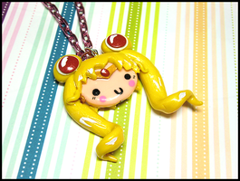 Sailor Moon Necklace by GrandmaThunderpants
