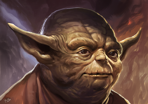 Morning Sketching - ep 044 - Yoda by RogierB