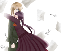 Togami and Fukawa by MargothMegurine