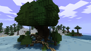 Minecraft small tree by HifeyNyan