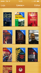 Flat iBooks app on iOS7 old style with shelves by StoreCriativa