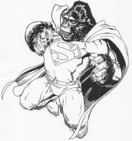 Superman as Gorilla Cover by Stonegate