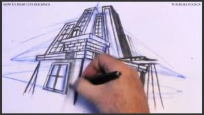 Learn how to draw city buildings 033 by drawingcourse