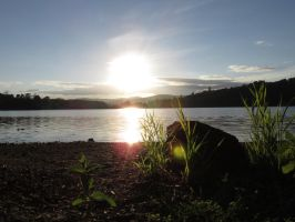 Sunset at Loch of Clunie by Phant94