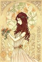 Capucine - Mucha style by Val-eithel