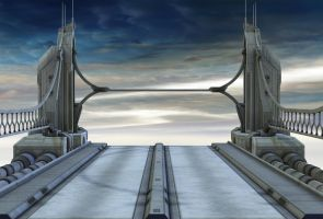 sky bridge background by indigodeep