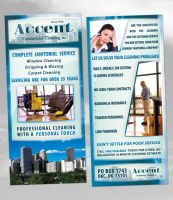 Accent Commercial Cleaning Flyer by ipholio