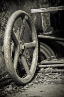 old rusty wheel by uncloned