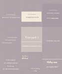 Text Pack 1 by asweetnightmare