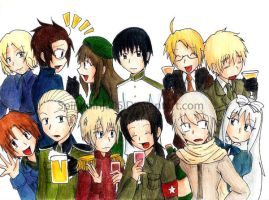 Hetalia Party by SpiralNinja05