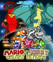 Mario and Kirby Galaxy Heroes Poster by KingAsylus91