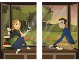 Rachel and Lincoln by KCretcher
