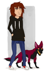 Masha The Vampire And Wayne Dog by MashaMissd
