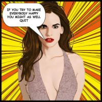 Hillary Swank - Comic Style by davidiana