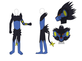 Luxray costume design by BladeTiger