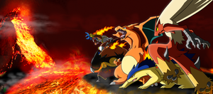 The 5 Fire Starters 3rd Evolution Colored Remake by JamalC157