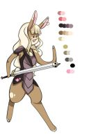 Saskia the Bunny Warrior by Allora1313