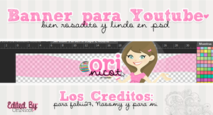 Banner para YT Editable StylePink ByOriNicot by OriNicot