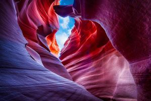 Antelope canyon, layers ahead by alierturk