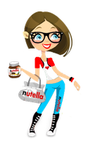 Nutella Girl para mis 60 Watchers x3 by Milegatura
