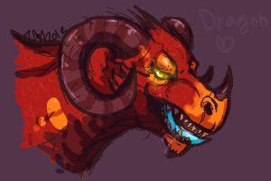 sketch:dragon by hummeri9