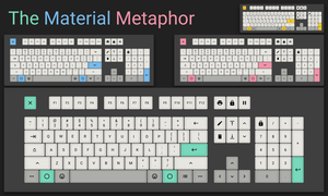 [Keycap Set] The Material Metaphor by ShiningWingPony