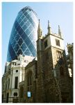 Gherkin and Church by samurai23