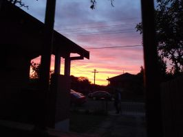 Sunset in the Suburbs by Amarganth