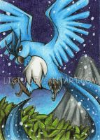 1LPE ACEO: Articuno by Lisiu