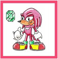 Knuckles In AoStH Style by funkyjeremi