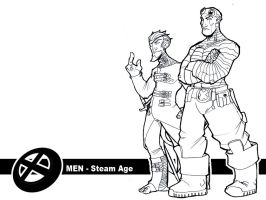 X-men - Steam age - preview by OttoArantes