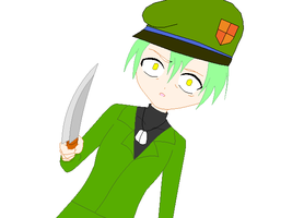 Evil Flippy has a knife by Chidori1334