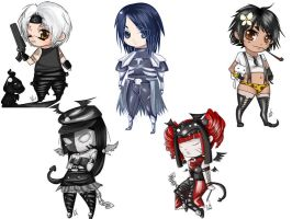 Gaia Chibi Set 01 by Art-on-a-Stick