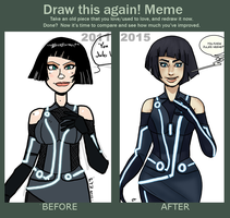 meme before and after 2011-2015 Quorra by theEyZmaster
