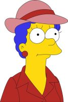 Marge Simpson with red hat by frasier-and-niles