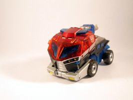 Animated transparent optimus (Vehicle mode) by scoobsterinc