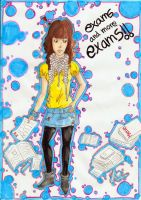 me and the exams by raquel-cobi