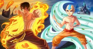 The Firelord and The Avatar by Jeff-Mahadi