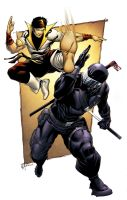 Karate Kid vs Snake Eyes by spidermanfan2099