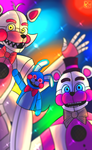 Funtime Freddy and Foxy by Dioshirei