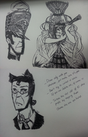 Pen challenge doodles by Not-Sparkly-At-All