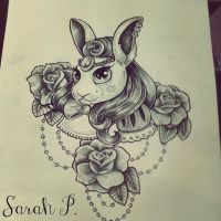 white rabbit by SarahP86