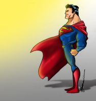 Supeman The Man of Steel by JaZaDesign
