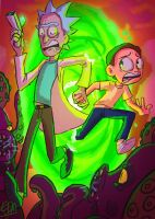 Fanart Friday #7 - Rick and Morty by EDMeadArt