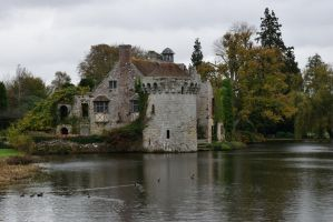 DSC 0042 Scotney Old Castle by wintersmagicstock