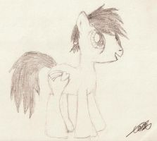 Untitled Cobalt Drawing by CobaltBrony