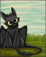 Toothless by Dragowl