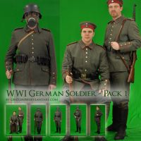 WWI German Soldiers - Pack One by Georgina-Gibson