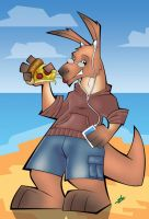 Roo - Anthro Comission by scruffyzero
