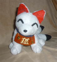 5 tailed Inari fox plush by goiku